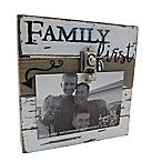 Sweet Bird & Co.  Family First  4-Inch x 6-Inch Wooden Clip Frame
