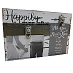 Sweet Bird & Co.  Happily Ever After  2-Photo Wooden Clip Frame