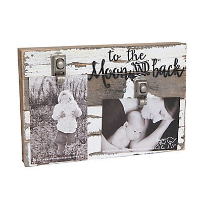 """Sweet Bird & Co. """"To the Moon and Back"""" 2-Photo Wooden Clip Frame"""