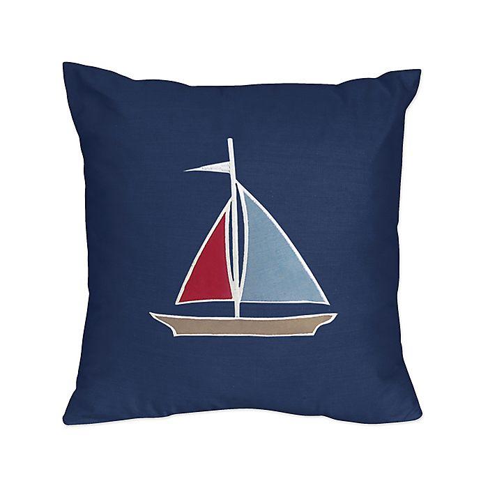 Alternate image 1 for Sweet Jojo Designs Nautical Nights Reversible Throw Pillow