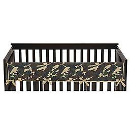 Sweet Jojo Designs Camo Long Crib Rail Cover in Green