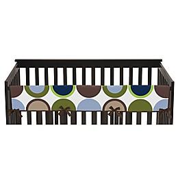 Sweet Jojo Designs Designer Dot Long Crib Rail Cover in Navy/Taupe