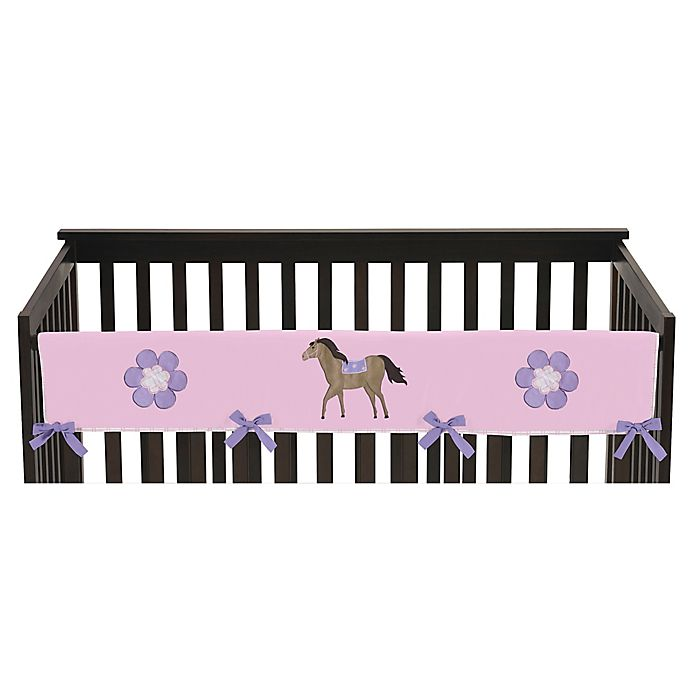 Alternate image 1 for Sweet Jojo Designs Pretty Pony Long Crib Rail Cover