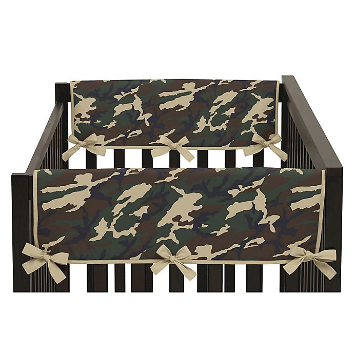 Alternate image 1 for Sweet Jojo Designs Camo Side Crib Rail Covers in Green (Set of 2)