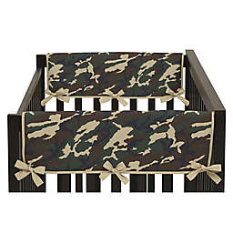 Sweet Jojo Designs Camo Side Crib Rail Covers in Green (Set of 2)