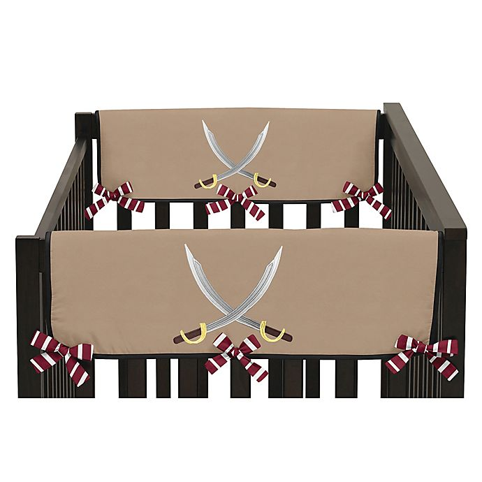 Alternate image 1 for Sweet Jojo Designs Pirate Treasure Cove Side Crib Rail Covers (Set of 2)