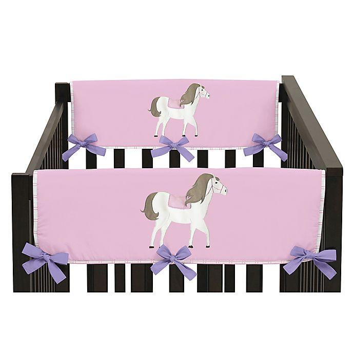 Alternate image 1 for Sweet Jojo Designs Pretty Pony Side Crib Rail Covers (Set of 2)