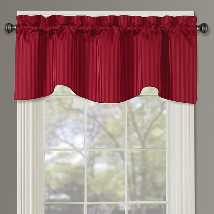 Buy Sutton Rod Pocket Lined Window Valance In Red From Bed