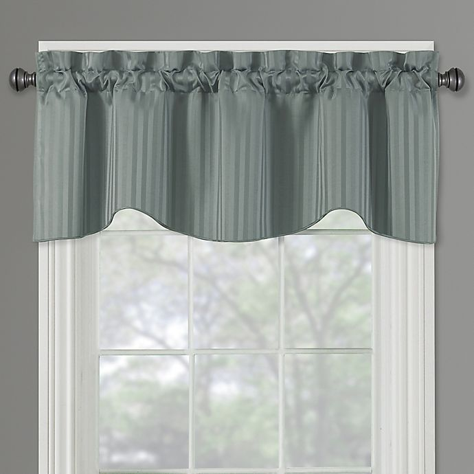 Buy Sutton Rod Pocket Lined Window Valance In Blue From