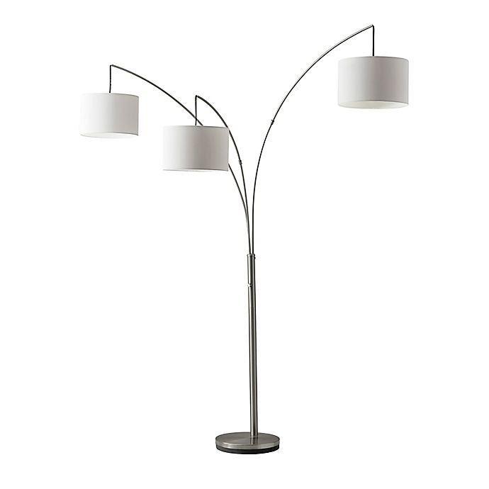 Alternate image 1 for Adesso Trinity Arc Floor Lamp in Brushed Steel