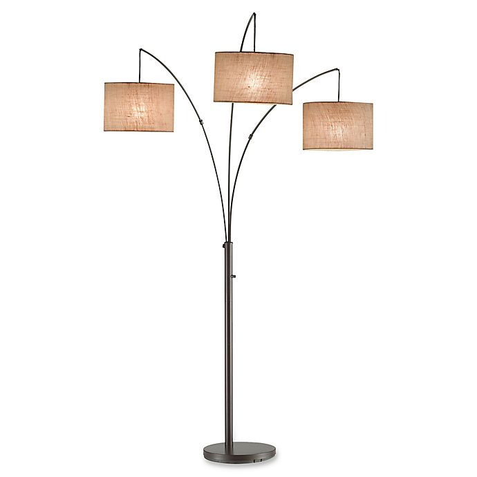Alternate image 1 for Adesso Trinity Floor Lamp with Fabric Shade