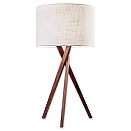 Adesso Brooklyn Table Lamp in Walnut