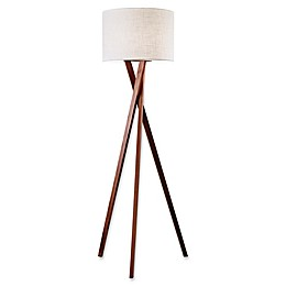 Adesso Brooklyn Floor Lamp in Walnut