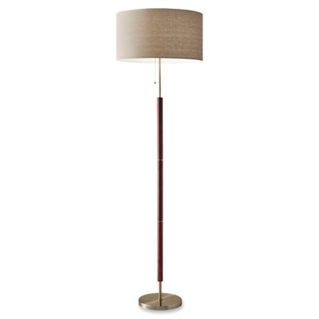 Adesso 174 Hamilton Floor Lamp In Walnut Bed Bath Amp Beyond