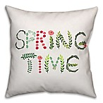 Designs Direct Easter Collection Springtime Square Throw Pillow in Pink/Green