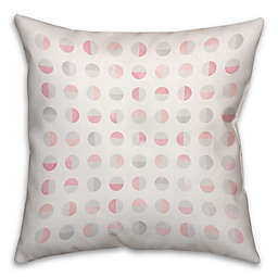 Designs Direct Easter Collection Watercolor Semi-Circles Square Throw Pillow in Pink/White