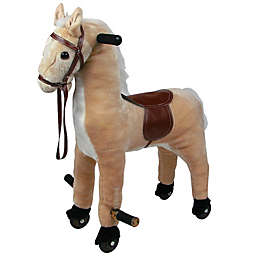 Happy Trails Ride-On Walking Horse in Brown