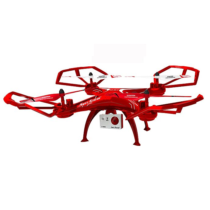 Alternate image 1 for Swift Stream Z-10 Wi-Fi Camera Drone in Red