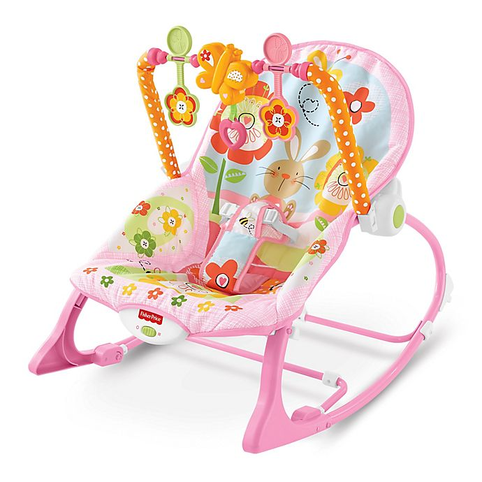 Alternate image 1 for Fisher-Price® Pink Bunny Infant to Toddler Rocker