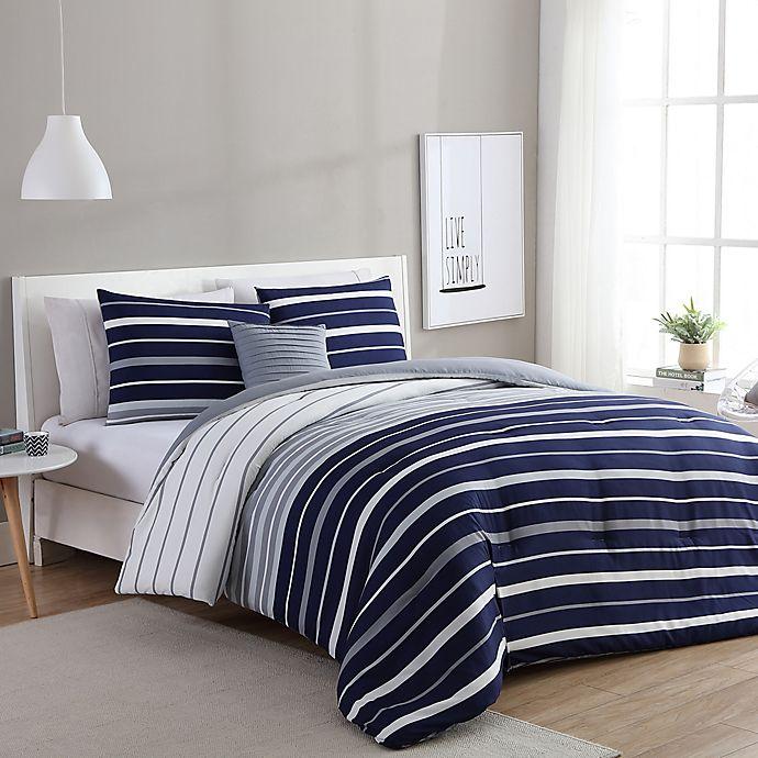 Alternate image 1 for VCNY Home Preston Comforter Set in Navy