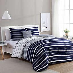 VCNY Home Preston Comforter Set in Navy