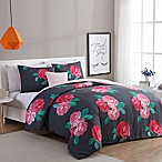 VCNY Home Rosemary 4-Piece Full/Queen Comforter Set in Charcoal/Rose