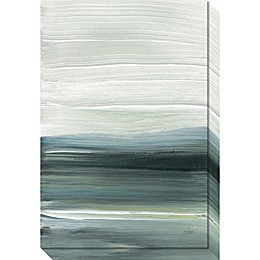 Silver Silence: Opal Sky Canvas Wall Art