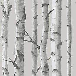 NuWallpaper™ Mountain Birch Peel and Stick Wallpaper in Grey