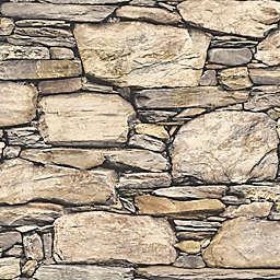 NuWallpaper™ Hadrian Stone Wall Peel and Stick Wallpaper