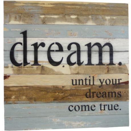 Sweet Bird Co Dreams Come True Wood Wall Art Bed Bath Beyond