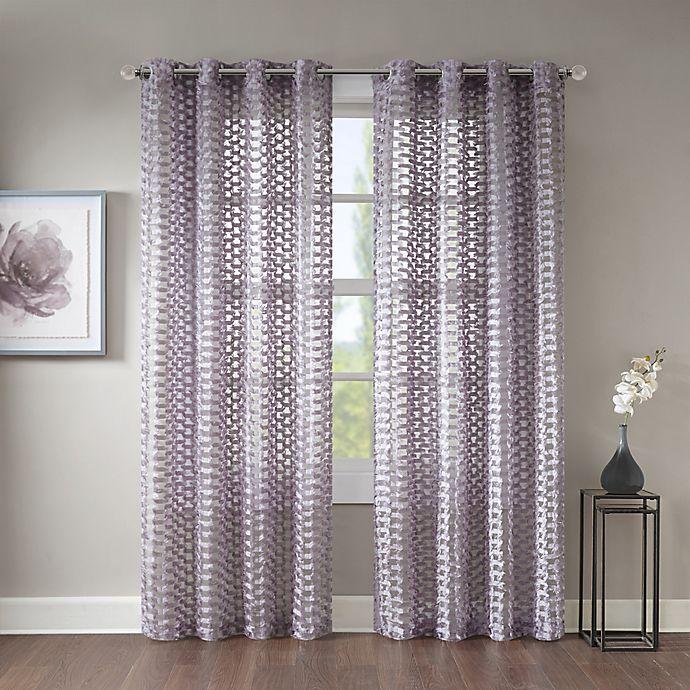 Alternate image 1 for Erin Sheer Grommet Top Window Curtain Panel