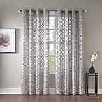 Erin 95-Inch Sheer Grommet Top Window Curtain Panel in Grey