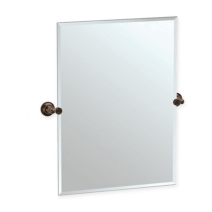 Alternate image 1 for Gatco® Tiara 31.5-Inch x 28-Inch Rectangular Frameless Mirror in Bronze