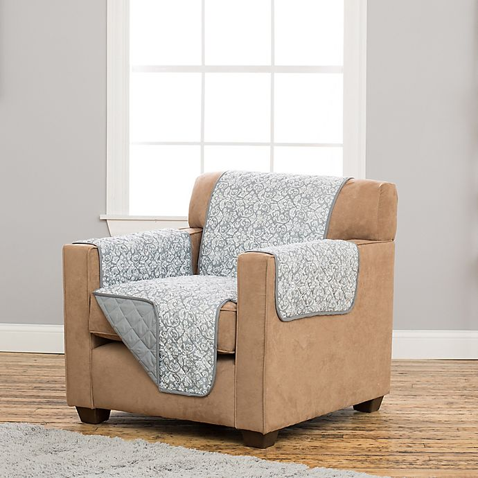 Superb Great Bay Home Katrina Deluxe Reversible Chair Protector Theyellowbook Wood Chair Design Ideas Theyellowbookinfo