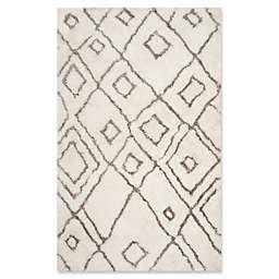 Safavieh Toronto 5-Foot x 8-Foot Shag Area Rug in Ivory/Light Grey