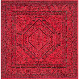 Safavieh Adirondack Traditional Floral 4' Square Accent Rug in Red