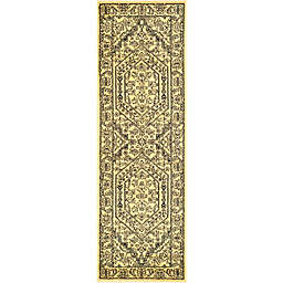 Safavieh Adirondack Traditional Floral 2'6 x 12' Runner in Gold