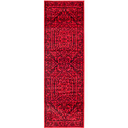 Safavieh Adirondack Traditional Floral 2'6 x 11'6 Runner in Red