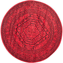 Safavieh Adirondack Traditional Floral 6' Round Area Rug in Red