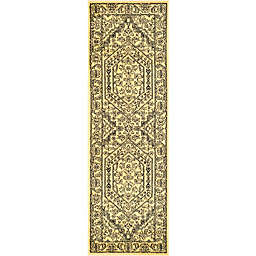 Safavieh Adirondack Traditional Floral 2'6 x 18' Runner in Gold