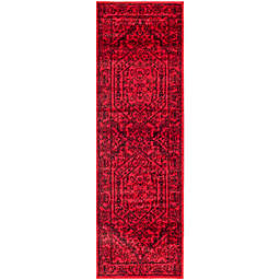 Safavieh Adirondack Traditional Floral 2'6 x 22' Runner in Red