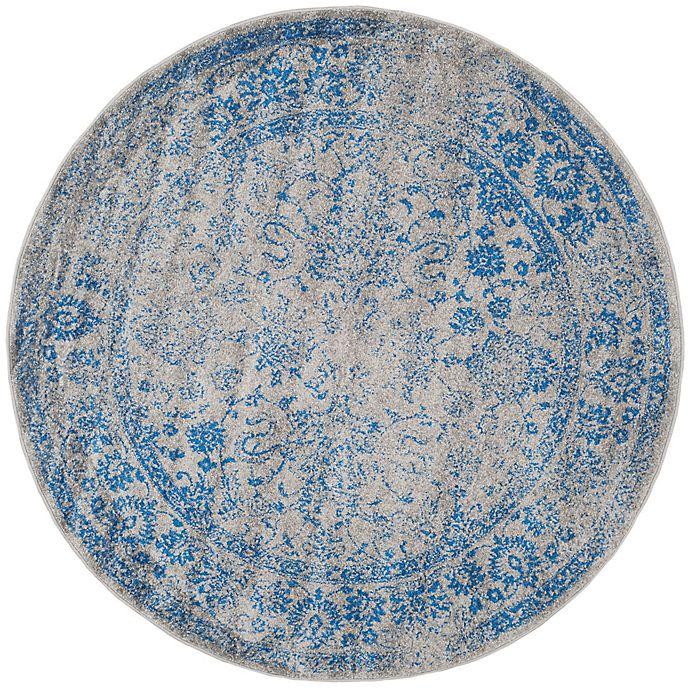 Alternate image 1 for Safavieh Adirondack 4-Foot Round Accent Rug in Blue