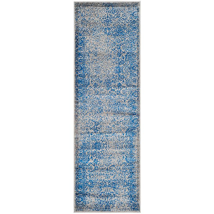Alternate image 1 for Safavieh Adirondack 2-Foot 6-Inch x 14-Foot Runner in Blue