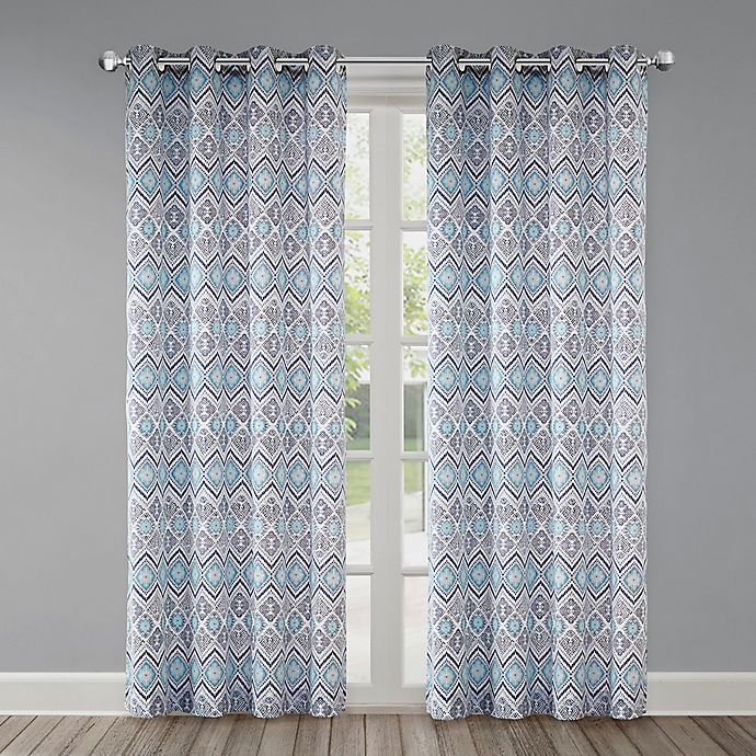Alternate image 1 for Echo Triana Grommet Top Window Curtain Panel