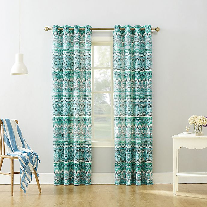 Alternate image 1 for Neva Grommet Top Window Curtain Panel