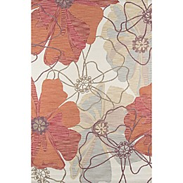 Momeni Summit Floral Hooked Area Rug in Sand/Orange
