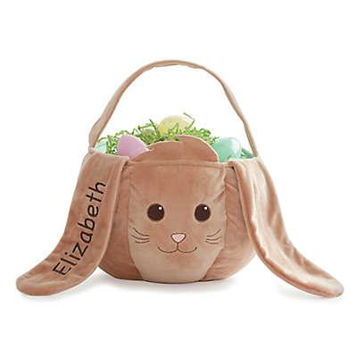 Bunny Easter Basket in Brown