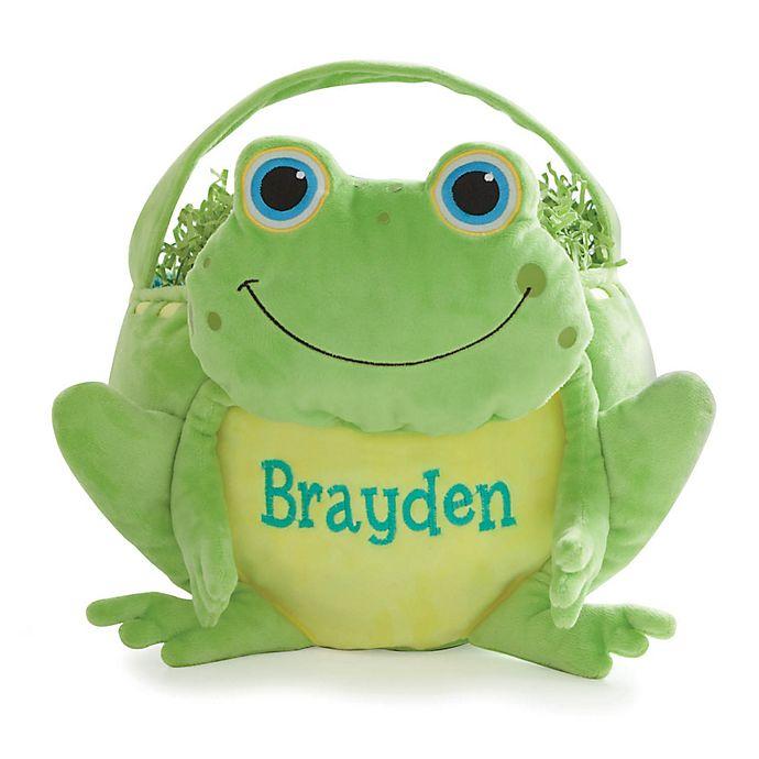 Alternate image 1 for Frog Easter Basket in Green