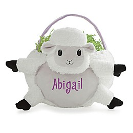 Lamb Easter Basket in White