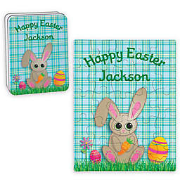 Bunny Happy Easter Puzzle and Tin in Blue